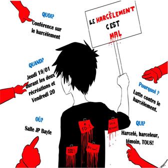 CONFÉRENCE/LUTTE CONTRE LE HARCÈLEMENT