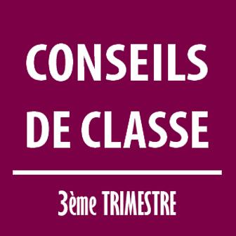 CONSEILS DE CLASSE DU TROISIÈME TRIMESTRE