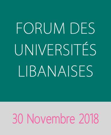FORUM DES UNIVERSITÉS LIBANAISES – NOVEMBRE 2018
