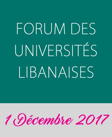 FORUM DES UNIVERSITÉS LIBANAISES – DÉCEMBRE 2017