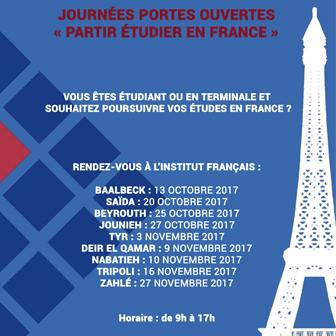 JOURNÉES PORTES OUVERTES « PARTIR ÉTUDIER EN FRANCE »