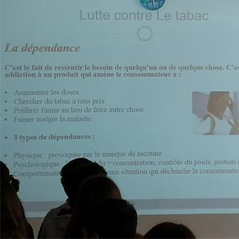 PRÉVENTION ET ÉDUCATION À LA SANTÉ  AU LYCÉE : STOP TABAC !