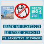 HALTE AU PLASTIQUE, LE LYCÉE ALPHONSE DE LAMARTINE S'ENGAGE !