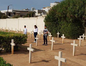 CÉRÉMONIE DU 11 NOVEMBRE AU CIMETIÈRE FRANÇAIS DE TRIPOLI