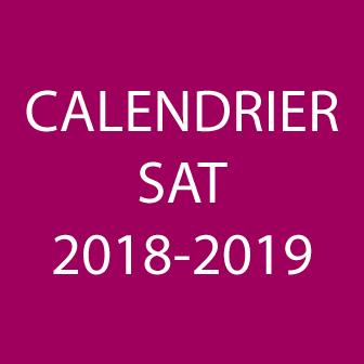 CALENDRIER SAT 2018-2019