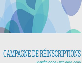 CAMPAGNE DE RÉINSCRIPTION 2019/2020