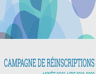 CAMPAGNE DE RÉINSCRIPTION 2019/2020