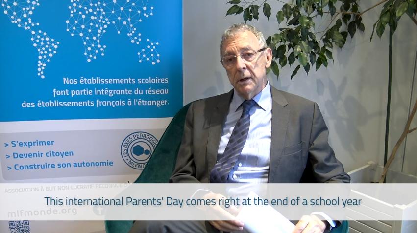 Journée mondiale des parents : JC Deberre, Directeur Général de la MLF, s'adresse aux parents