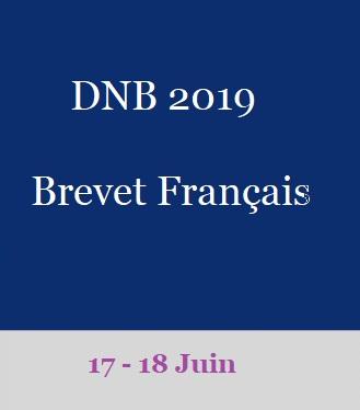 DNB: diplôme national du brevet français 2019