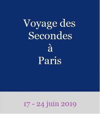 Voyage des classes de secondes à Paris