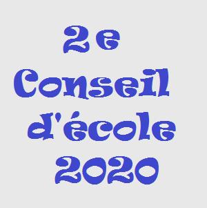 2e Conseil d'école 2020