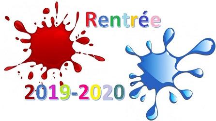Rentrée des élèves 2019-2020