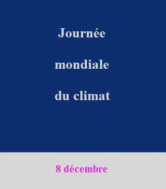 La journée mondiale du climat