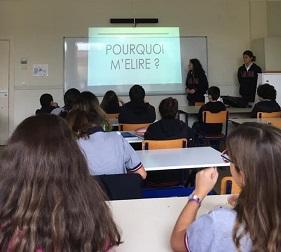 Les élèves de 5ème B élisent leurs délégués de classe