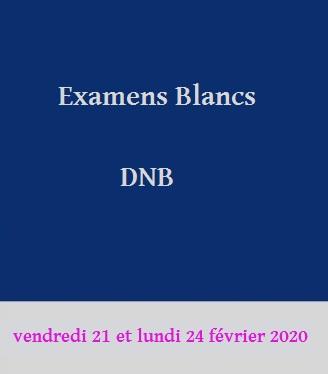 Examens blancs: DNB 2019-2020