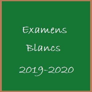 Report des examens blancs(rappel)
