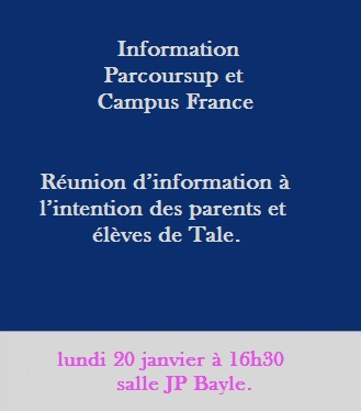Information Parcoursup et Campus France