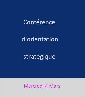 La Conférence d'Orientation Stratégique