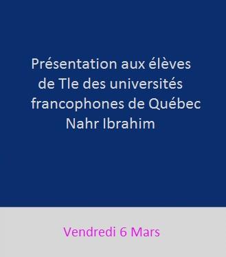 Les universités francophones de Québec