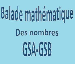 Les balades maths GS