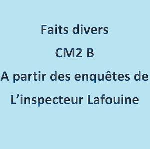 Le recueil des faits divers des CM2B