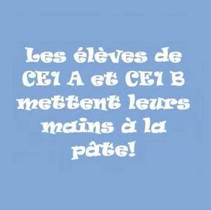 Régalez-vous avec le gâteau aux pommes des CE1A et des CE1B !