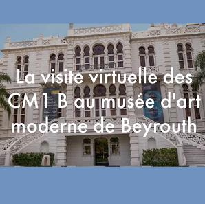 Visite du musée d'art moderne de Beyrouth par les CM1B