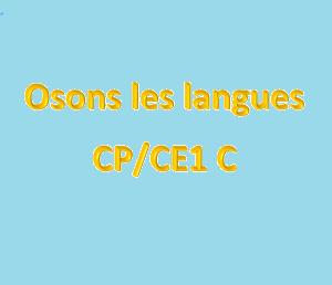Défi : Osons les langues
