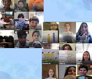 Les élèves de CM1B font de la publicité en arabe.
