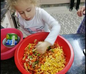 La salade de légumes en MSB