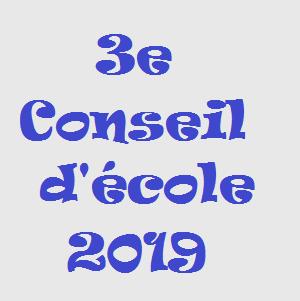 3e Conseil d'école 2019