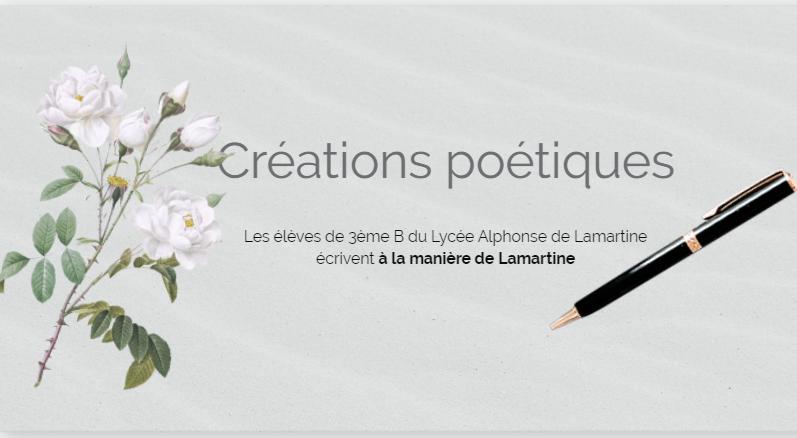 Créations poétiques des 3ème à la manière de Lamartine