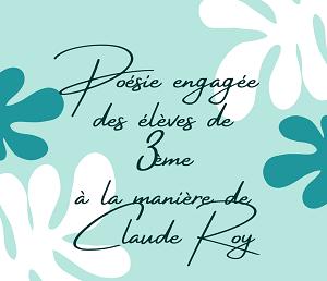 A la manière de Claude Roy