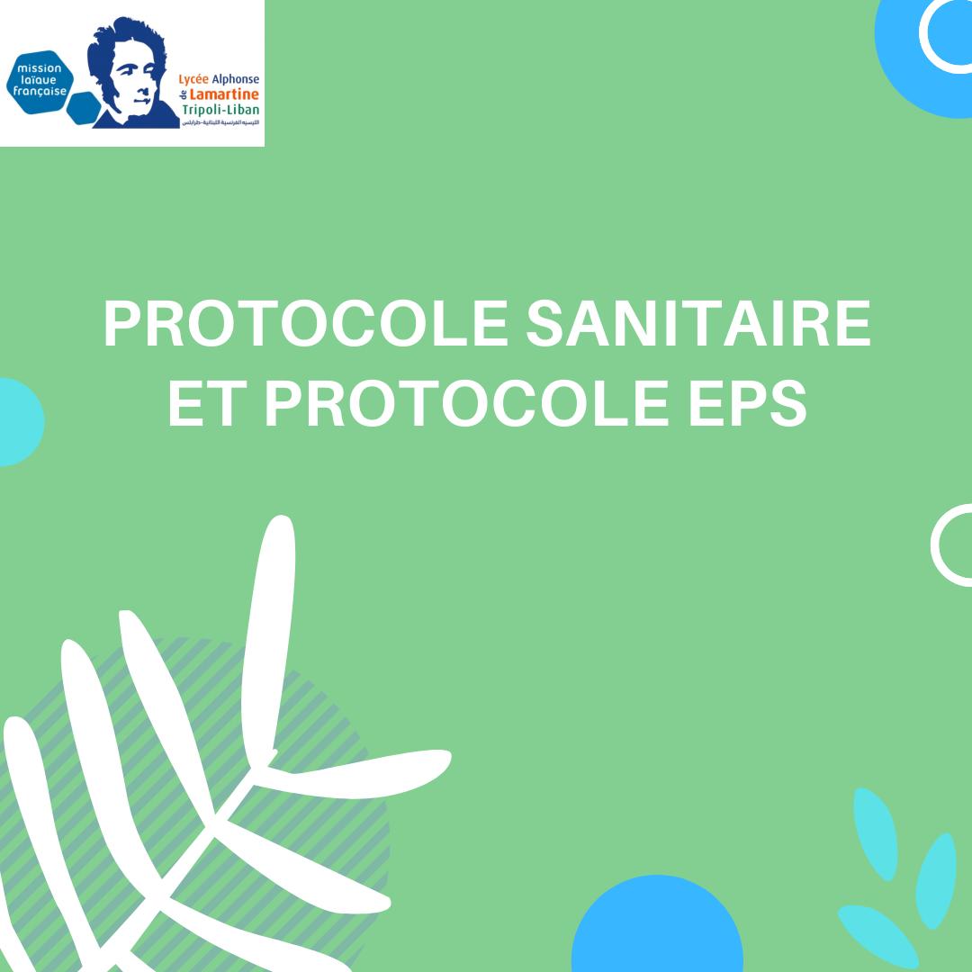 Protocole sanitaire et protocole EPS du LADL
