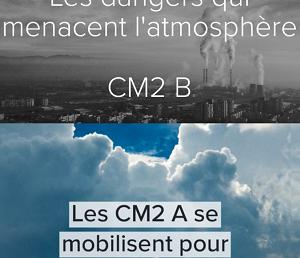 Les élèves de CM2 se mobilisent pour sauver l'atmosphère