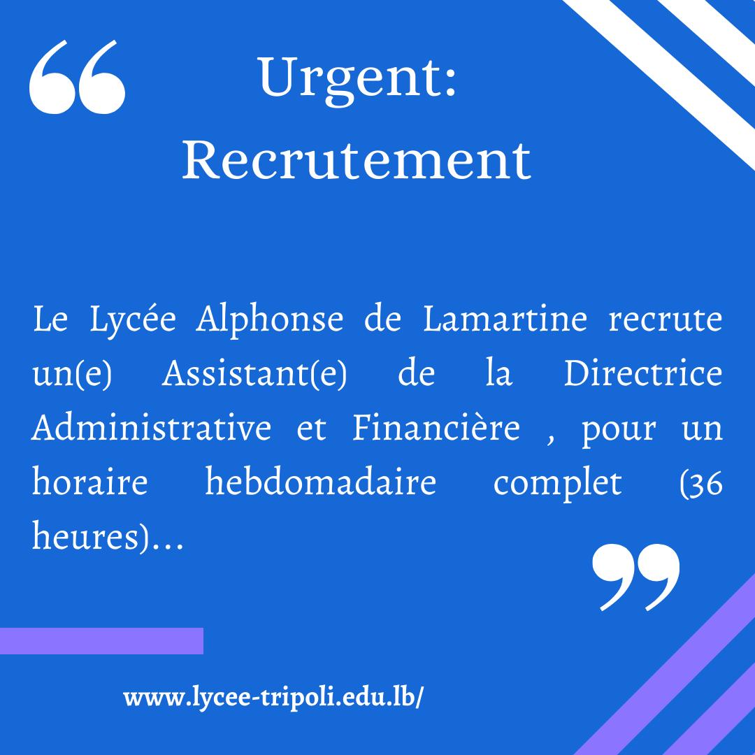 Urgent Recrutement!