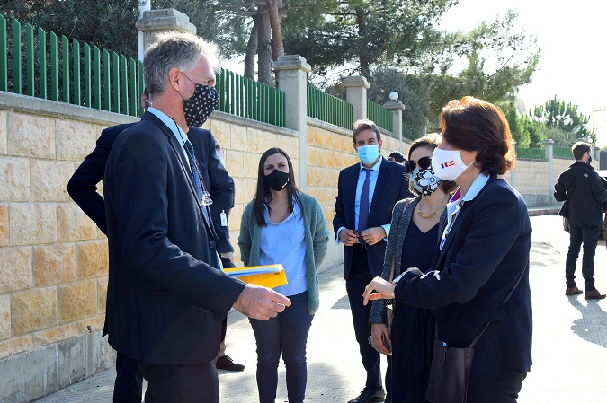 Visite au LADL de Mme Anne Grillo, Ambassadrice de France au Liban.