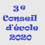 3e conseil d'école 2020