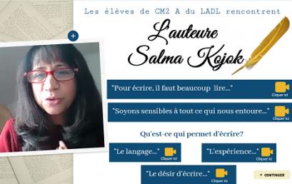 Les élèves de CM2 A rencontrent l'auteure Salma Kojok