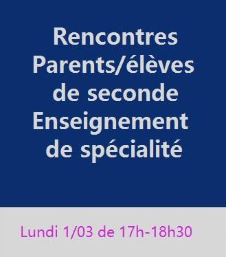 Rencontres parents-élèves de secondes