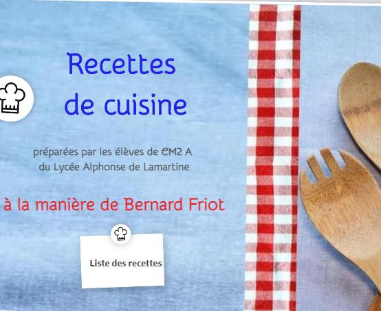 Recettes de cuisine à la manière de Bernard Friot