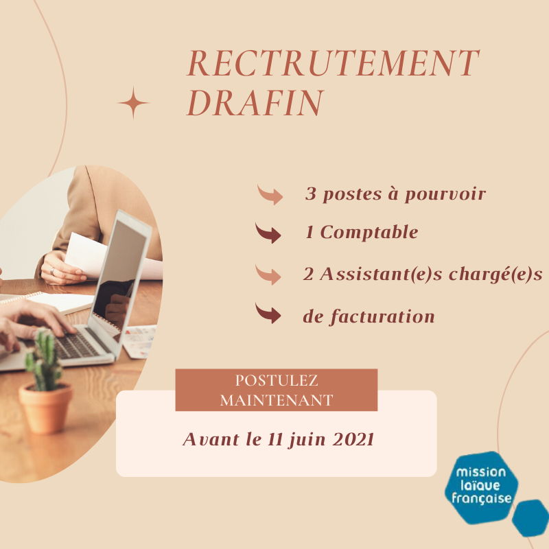 Créations d'emplois à la DRAFIN à Beyrouth